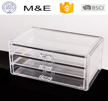 Transparent Acrylic 3 Drawer Box,Desktop Jewelry Storage & Organizer