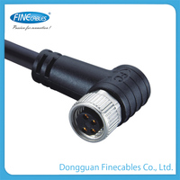 M8 Female siemens profibus plastic pvc cable stainless steel electrical connector