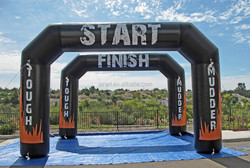 sport start and finish display used inflatable arch