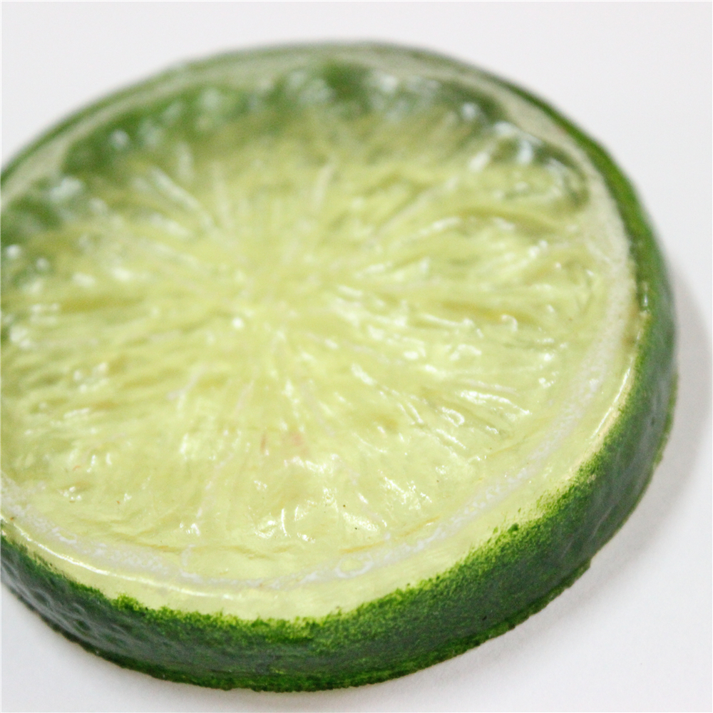 high quality decorative realistic fake lime fruit slice