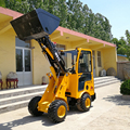 Multi function quality assured articulated small wheel loader used
