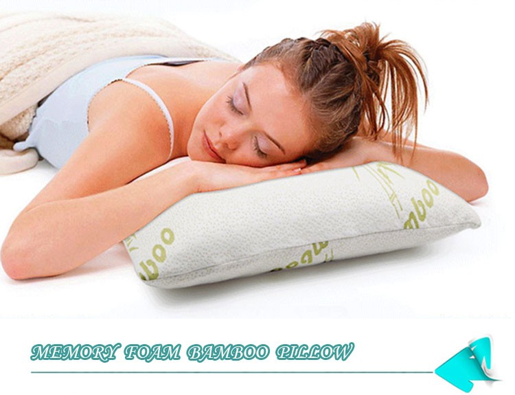 bamboo pillow shredded memory foam queen