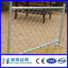 lowes chain link gate/galvanized square wire mesh chain link fence