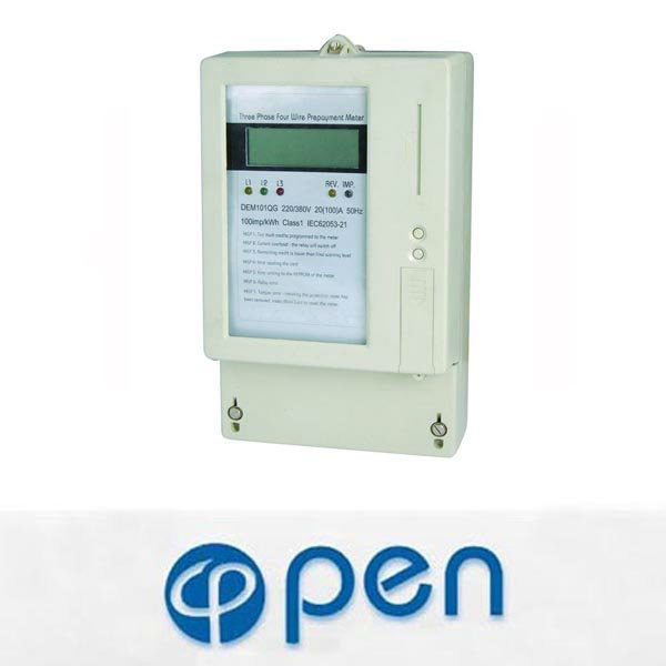 DEM101QC three phase prepaid digital electric meter reverse