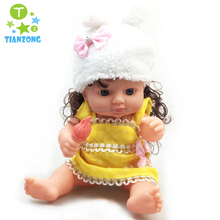 12 inch vinly toys baby music doll with color box