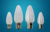 low price 0.5w c9 e17 base smd led 5730 christmas bulb