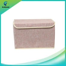 New style oem non woven fabric household storage box with lid