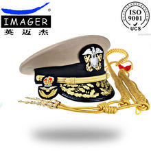 HAND-MADE US airline pilot hat with gold leaf embroidery