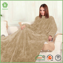 Khaki Anti Static Sofa Play Shu Velveteen Snuggie Blanket