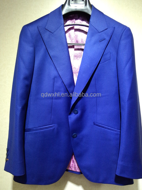 Woolen men's clothing!jewelry blue fashion custom-made mensuit and tuxedo style