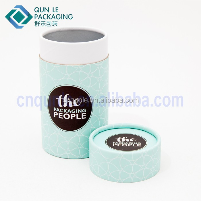 Custom Design Kraft Paper Tea Tin Cans Coffee Sugar Paper Canisters Wholesale