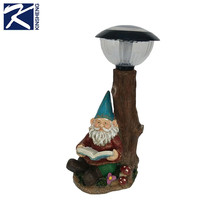 Custom new products polyresin garden gnome for solar light