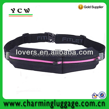 Sport waist bag elastic Running waist bag for mobile phone key wallet