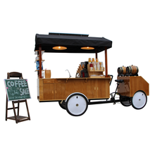 Popular Four Wheels New Fashion Electric Mobile Cafe Bike