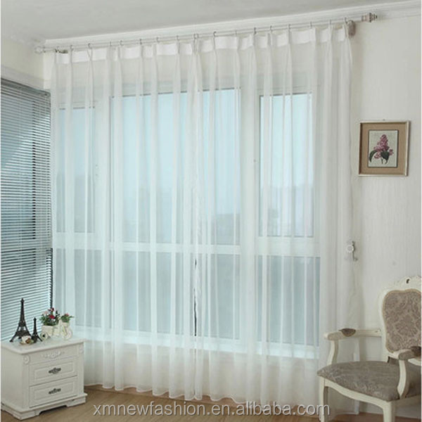 2.2 Dollar Net Solid White Sheer/Voile/Lace Window Curtain Fabric/Drapery/Treatment Manufacturer China