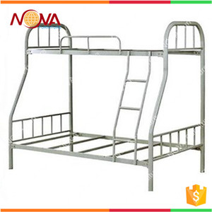 Modern design cheap wholesale used metal steel adult triple metal bunk beds sale