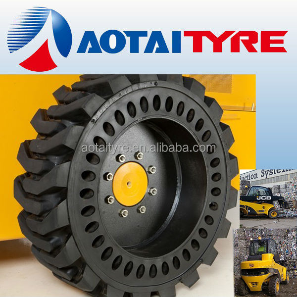 high quality resilient polyurethane bobcat linde forklift solid tyre 27x10-12