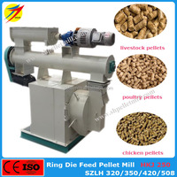 Ring die mould poultry feed pellet mill machine with electric engine