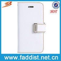 Pure white hot selling phone wallet case for iphone5 5s
