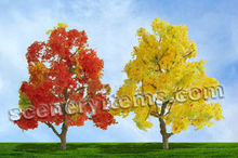 Autumm Deciduous Tree Architectural Miniature Trees Train Layout Railroad Landscaping Materials High Quality Scenery Trees