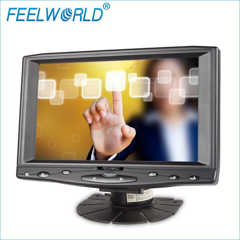 7 inch high definition 1024x600 Car LCD Monitor TV Headrest with stand bracket