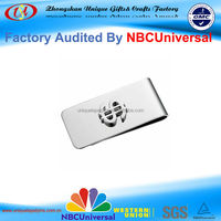 Cheap custom logo metal money clip with high quality