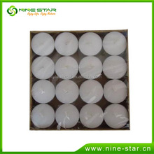 Latest design fashion wholesale white tea light candle