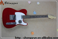 Shengque Cheap Red Blanks Basswood TL Electric Guitar