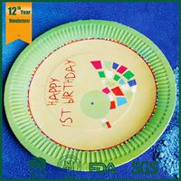 kids party paper plates,disposible paper plates,paper plate set