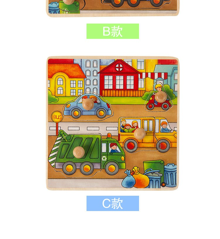 Scenario storytelling wooden puzzle 2016 new design 3 cartoon themes
