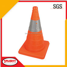 7577 High Quality Waterproof Plastic Retractable Safety Cones