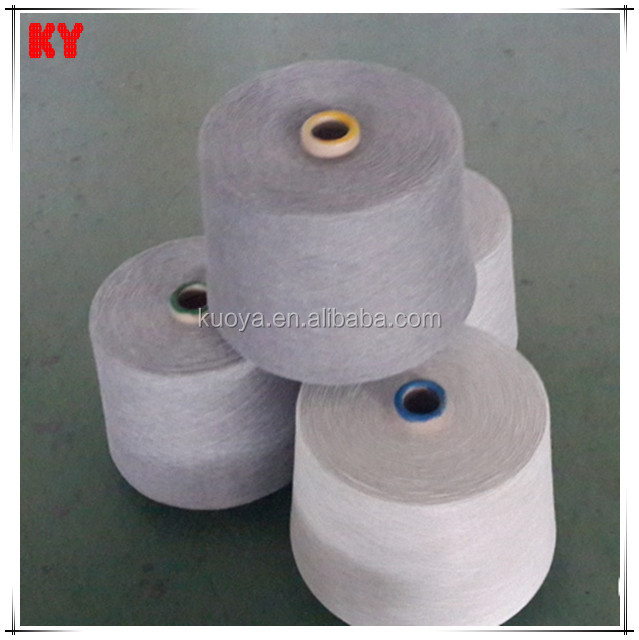 polyester stable black fiber mixed melange yarn 30s /1 chinese spinning mill
