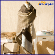HZW-14874001 2015 color knitted designer fashion accessory modern scarf shawl
