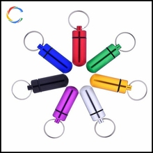 Waterproof Aluminum Holder Key Chain Container for Outdoor Sports