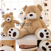 Factory price 260CM Big mouth Teddy bear coat empty toy skin Plush toys Giant toy Dark Brown/Light Brow