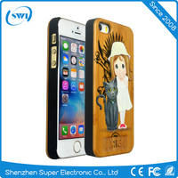 2016 Aliexpress hot selling 3D color carving PC phone case for iphone 5 5S 5C SE,3D wood carving case for iphone 5