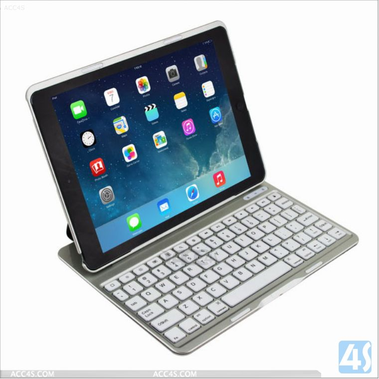 English Amazon Aluminum Alloy Backlighting Bluetooth Keyboard For Ipad Air 5