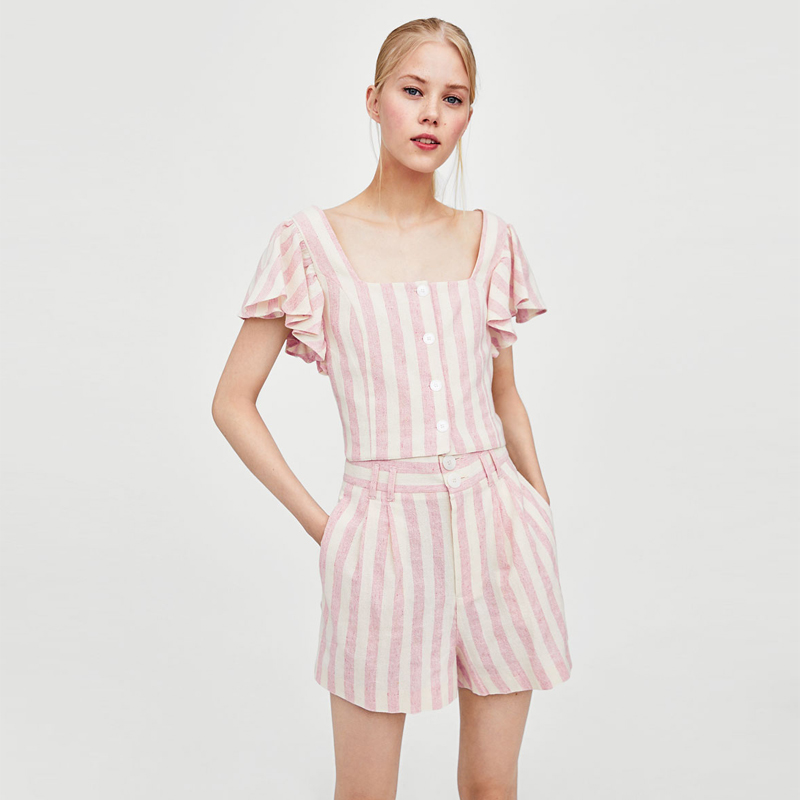 2018 latest fashion sexy two piece playsuit for women