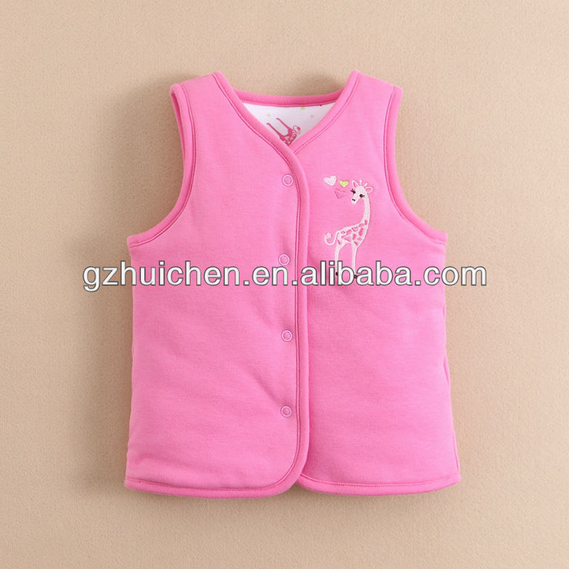 mom and bab 2013 Winter baby clothes 100% cotton 2 sides quilted vest factory