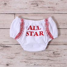 Wholesale cotton baby diapers plain baseball baby bloomers for kids