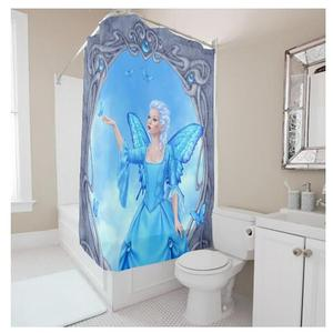 Anime Wholesale Design Digital Printing bath curtain shower, waterproof mouldproof shower curtain for hometextile