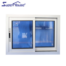 High quality aluminum double sliding windows window sliding with built in blinds