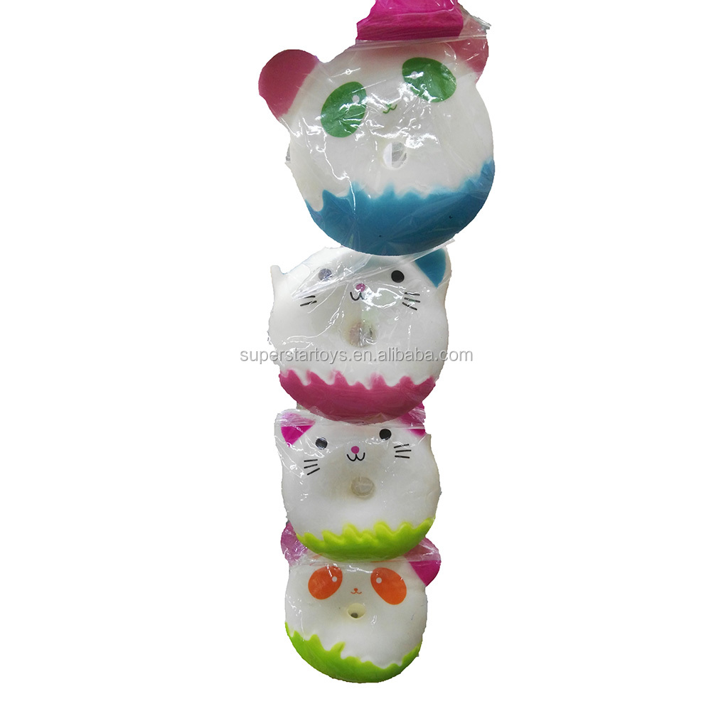 5170824-10 Promotion anti stress ball, very soft PU toy bear and cat