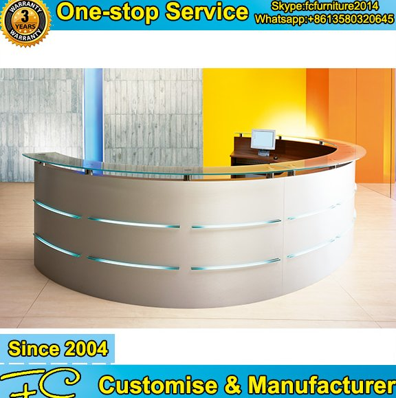 New design wooden reception counter design and modern reception desk