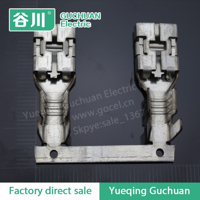 DJ622-E9.5*1.2C straight shape of tin plating nickel plated copper terminals and automotive connectors,reel
