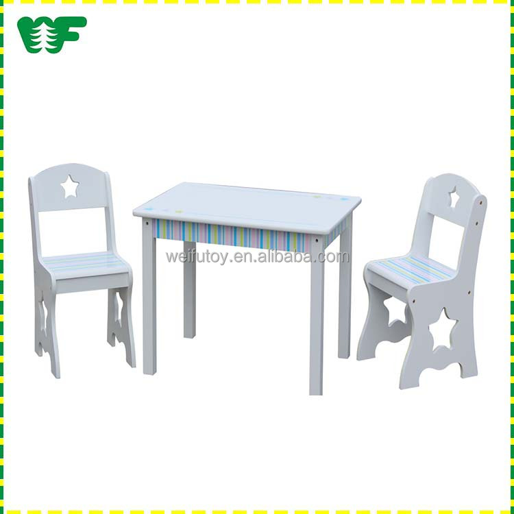 Professional wooden child study table and chair
