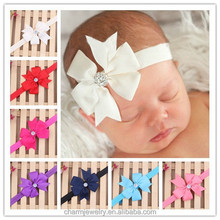 NEW ribbon bow baby <strong>headband</strong> & children hair accessories for kids (elastic hair bands+headdress )BTS010