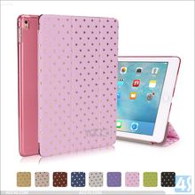 2016 New Product PU Leather Star Pattern Tri Fold Smart Cover Case for APPLE iPad Pro 9.7