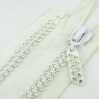 10# Big Teeth Large Rhinestone Plastic Zipper