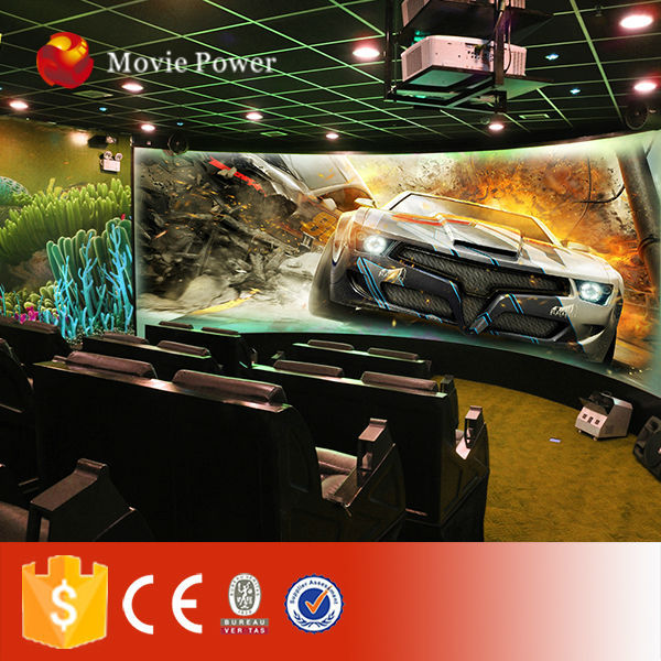 36 seats 7d dynamic theater big 7d cinema projector